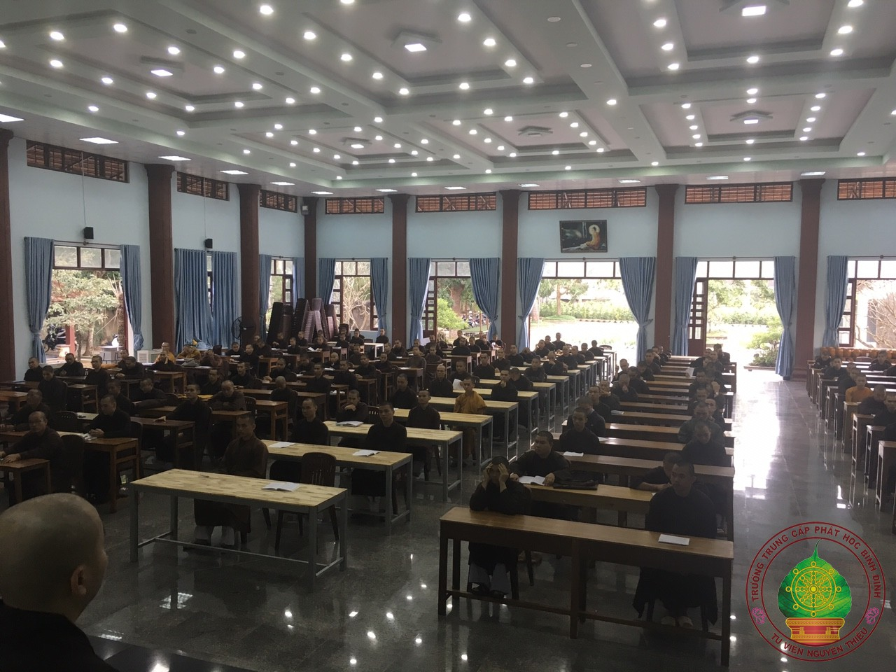 Trường TCPH Bình Định nghiêm túc tổ chức thi học kỳ 1, năm thứ hai khoá VIII 2017-2020